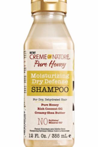 Creme Of Nature Pure Honey Moisturizing Dry Defense Shampoo 12oz