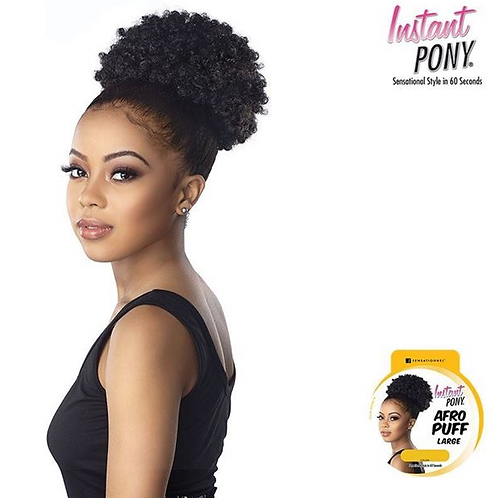 Instant Pony Large Afro Puff