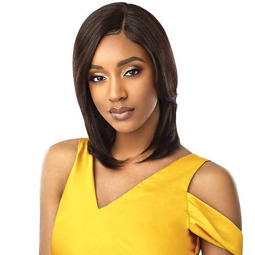 OUTRE UNPROCESSED HUMAN HAIR MYTRESSES GOLD LABEL LACE FRONT WIG - NATURAL STRAI