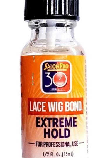 Salon Pro 30 Sec Lace Wig Bond Extreme Hold .5 OZ