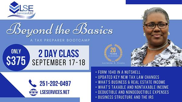 LSE Services Beyond the Basics: A Tax Preparer Bootcamp