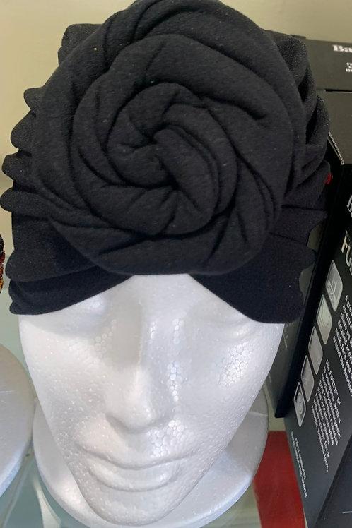 Black Bonnet Turban