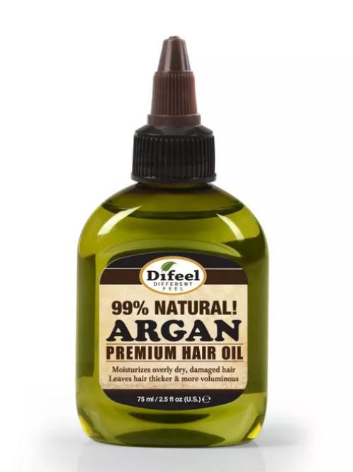 Difeel Premium Natural Argan Hair Oil - 2.5 fl oz