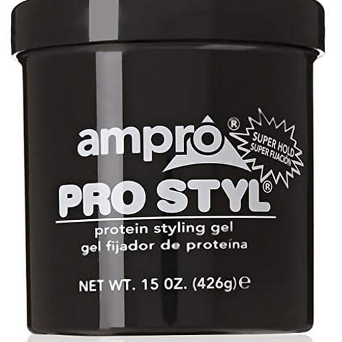 Ampro Pro Styl Protein Super Hold Styling Gel, 15 Ounce