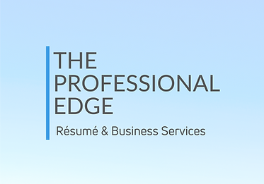 The Professional Edge Resume & Business Services Logo