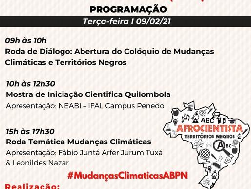 PROGRAMAÇÃO COLÓQUIO DE MUDANÇAS CLIMÁTICAS E TERRITÓRIOS NEGROS (2021)
