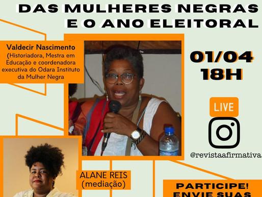 Hoje as 18h tem transmissões ao vivo no Instagram da @RevistaAfirmativa