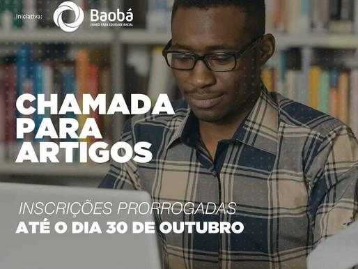 CHAMADA DE ARTIGOS  Fundo Baobá para Equidade Racial