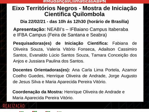 Convite para a Mostra de Iniciação Científica Quilombola