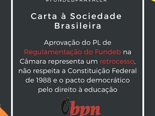 FUNDEB COM RAÇA E SEM PRIVATIZAÇÃO EM DEFESA DA EDUCAÇÃO PÚBLICA