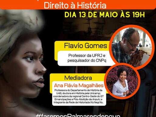 Amanhã teremos uma live especial para debatermos sobre Disputas de Narrativas e o Direito à História