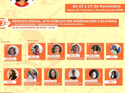 Semana Elitânia de Souza – Pela Vida das Mulheres Negras