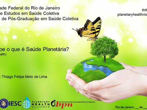 Palestra sobre Saúde Planetária