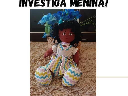Sorteio Investiga Menina! em parceria com Artesanatos Mocalu