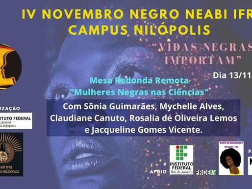 """Mesa Redonda Remota """"Mulheres Negras nas Ciências"""""""