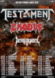Testament/Exodus/Death Angel 2020 Europen tour