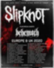 Slipknot/Behemoth 2020 European tour