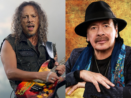KIRK HAMMETT To Play on SANTANA'S New Album