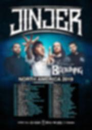 Jinjer/ The Browning 2019 U.S. tour