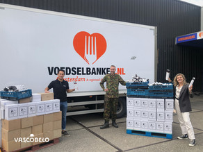 OUR DONATION OF 15.000 V-CUPS TO 'DE VOEDSELBANK'