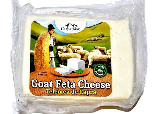 Carpathian Telemea Goat Feta Cheese Approx 0.75 Lb