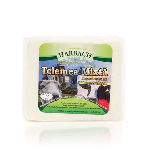 Harbach Telemea Mixta Maturated Cow and Sheep Cheese Approx 400g