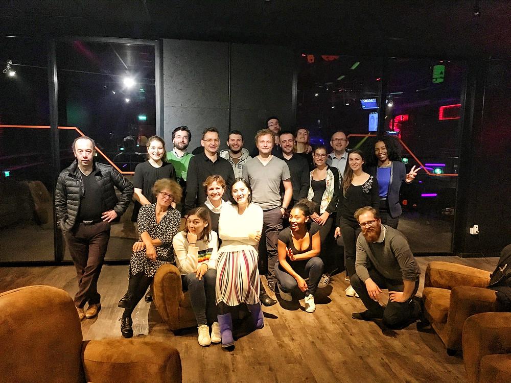 les salariés de l'équipe Abalon en décembre 2017
