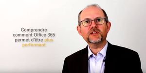 Sur fond blanc, photo de Christophe COUPEZ, comprendre comment Office 365 permet d'être plus performant