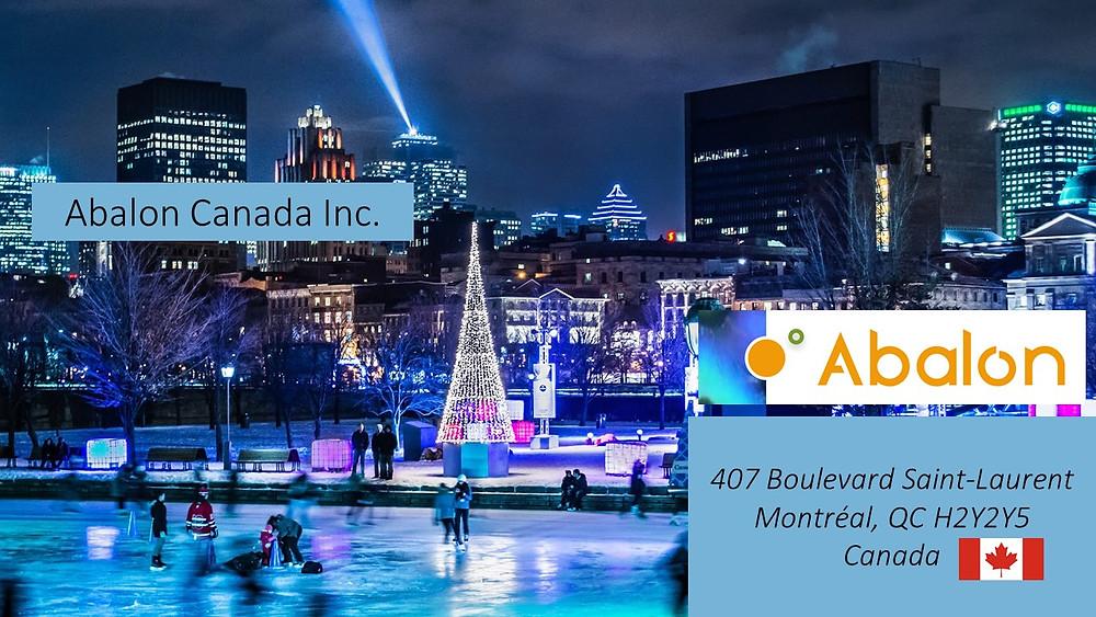 Patinoire Montréal, gratteciels, Adresse Abalon Canada Inc