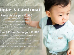 Birthday | Baptism | Kiddie Party | Christening | Oldies Birthday » Affordable Photo & Video Package