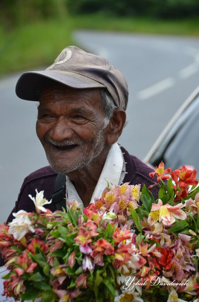 Man with Flowers  Sri Lanka