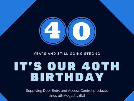 We are turning 40!
