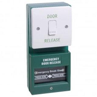 DU01/KGG1SG- Dual Unit. Exit Button And Single Pole Break Glass