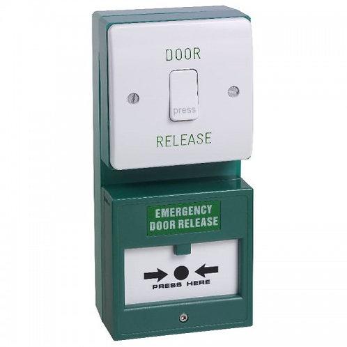 TRADE DU01/CP22 – Dual Unit. Exit Button And Double Pole Break Glass