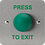 Thumbnail: Green Dome Press to Exit Button SAB14