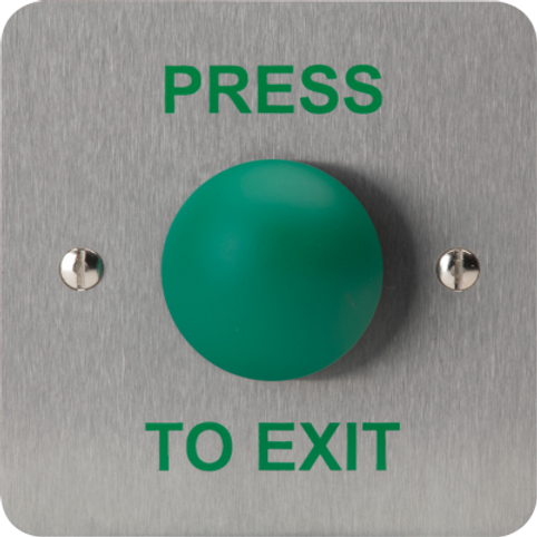 Green Dome Press to Exit Button SAB14