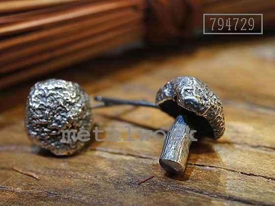 MW E1004 The Mushroom 925 Silver Earrings