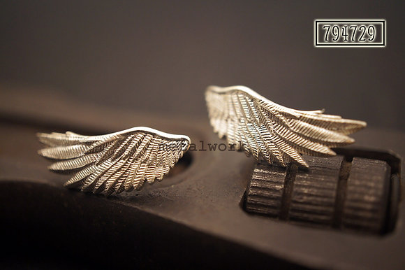 MW E1032 The 925 Silver Guardian Angel Studd Earrings