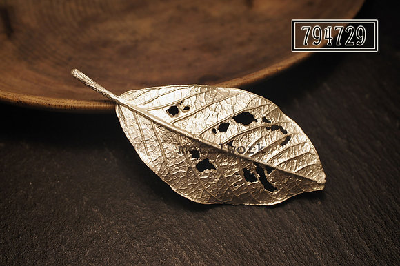 MW B1027 The 925 Silver Autumn Leaf Brooch