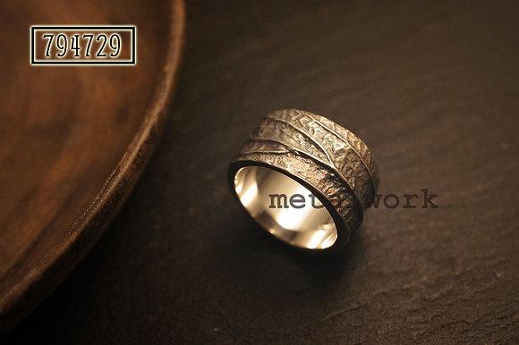 MW R1023 The 925 Silver Full Leaf Ring