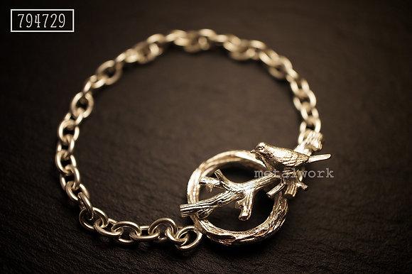 MW B1013 The 925 Silver bird on Twig Bracelet