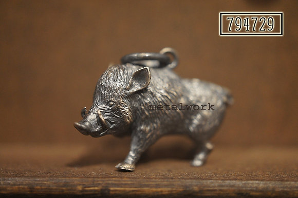MW P1120 The 925 Silver Boar Pendant (Large)