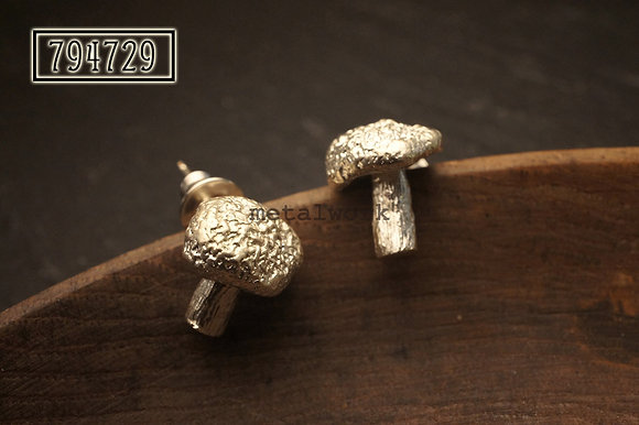MW E1004 The Mushroom 925 Silver Earrings
