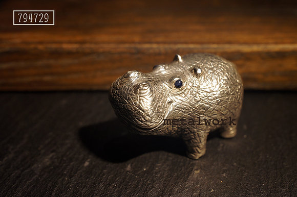 MW D1023 The 925 Silver Hippo Decoraiton (XS)