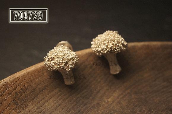 MW E1007 The 925 Silver Broccoli Earrings
