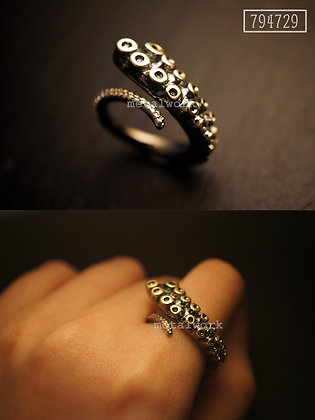 MW R1017 The 9K Gold Octopus Tentacle Ring US5.5~7