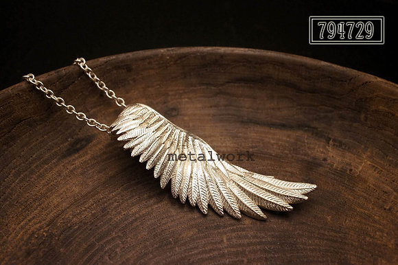 MW P1076 The 925 Silver Guardian Angel Wing Pendant (Single)