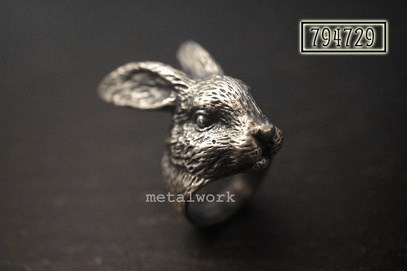 MW R1031 The 925 Silver Rabbit Head Ring