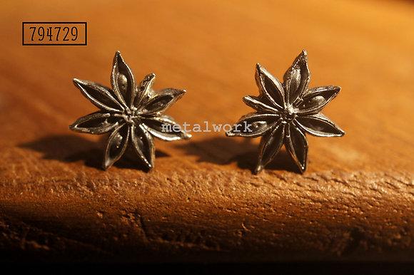 MW E1015 The 925 Silver Star Anise Studd Earrings
