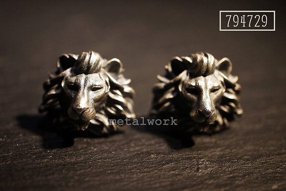 MW C1008 The 925 Silver Lion Cuff Links